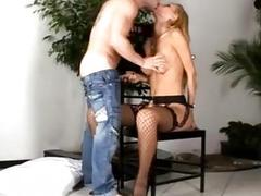 Playful blonde does the most erotic blowjob of all times