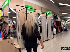 Beautiful czech nympho was seduced in the mall and reamed in