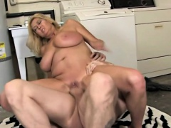 Big Boobs Stepmom Grabs Her Son In The Garage