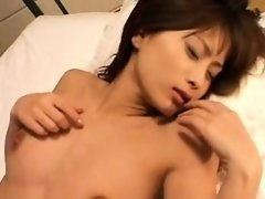 Gorgeous babe gives a sensual blowjob and then fucks that t