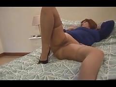 mature teasing in lingerie