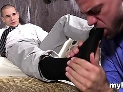 Aroused homo dudes in wicked foot fetish home porn scenes