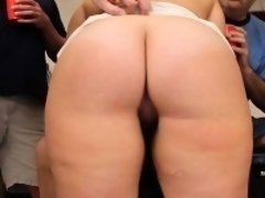 Chubby Blonde Swallows Cocks and Cum Tampa Bukkake