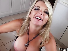 Cum Covered Big Tits! Busty MILF Vicky Vette Gets A Load!