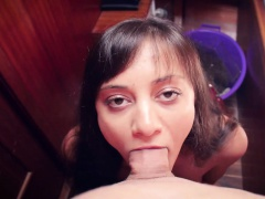 Teen girl was analyzed by toys and by hard cock of her own