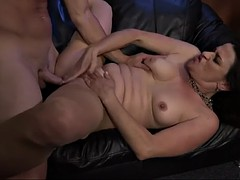 lustful granny michele hunts for young dicks in a bar