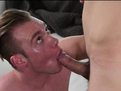 Hunk Grayson Frost bends over and spreads his ass for a