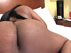 black ts amateur stroking her hard cock