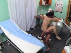 Stunning nurse fucks patient with doctor