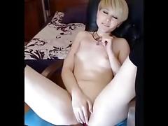 Blonde masturbation hot
