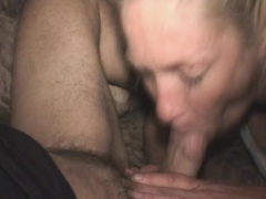 Dirty Aged Blonde Street Whore Sucking Dick POV