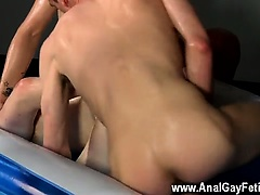 Naked guys Straight By Two Big Dicked Boys