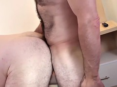 hot big bears fucking hard in a hotel room with raw blowjobs