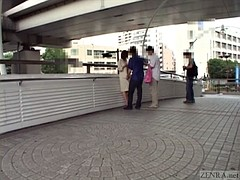 Subtitled japanese public nudity extreme vibrator play