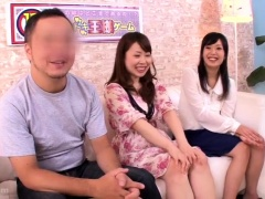 Lucky guy joins two pretty Asian girls for a hot threesome