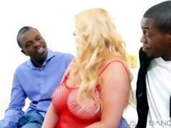 Karen Fisher is a voluptuous blonde MILF who likes to have sex with black guys