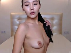 horny korean slut masturbating on live webcam