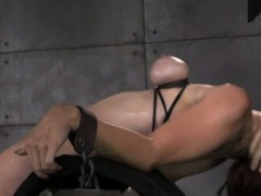 BDSM fetish sub Bella Rossi spitroasted
