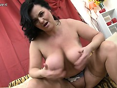 Huge breasted mature lady playing  Jaimee from 1fuckdatecom
