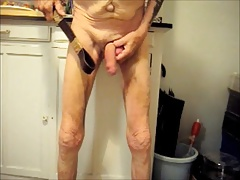 Cock Beating with Cum