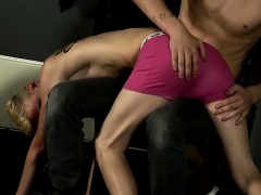 Gay fuck Reece enjoys making boys blow on his phat dick, it'