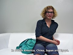 Kristyna amateur chubby milf gets her glasses cum covered