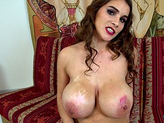 Milf with big tits and pussy masturbates piercings