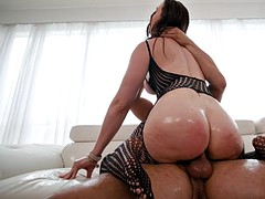 chanel preston rides danny mountain's hard prick with her ass