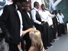 Sarah Vandella surrounded by big black cocks and facialed