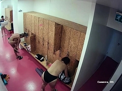 Sexy babes change clothes in the locker room on hidden cam