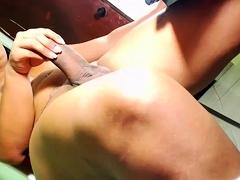 Tranny Sienna Grace solo masturbation