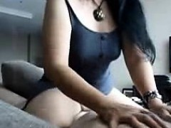 Fat oriental sweetheart driving to a lot of orgasms