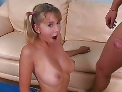 Pretty girl gets fucked doggystyle