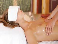 angelic erotic massage between blondes