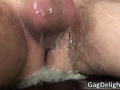 Sexy brunette hoe sucks stiff dick part4