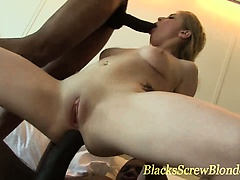 Big black cock dp fuck and facial