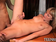 Pretty teen drilled from each angle