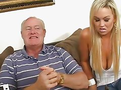 Gorgeous busty blonde wife must fuck for getting out of trobles
